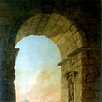 part 10 Hermitage - Robert, Hubert - Landscape with arch and dome of the Cathedral of St. Peters in Rome