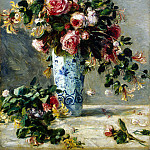 part 10 Hermitage - Renoir, Pierre-Auguste - Roses and Jasmine in a Delft Vase