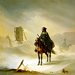 part 10 Hermitage - Raffi, Auguste - Two French Hussars on patrol in the winter