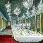 Piasecki, Pavel Ya – Table for formal dinner in the ballroom of the castle of Compiègne, part 10 Hermitage