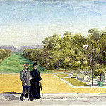part 10 Hermitage - Piasecki, Pavel Ya - The imperial couple in the park of the castle of Compiègne