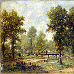 part 10 Hermitage - Rousseau, Theodore - Landscape with bridge