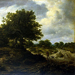 Landscape with wayfarer, Jacob Van Ruisdael