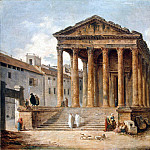 part 10 Hermitage - Robert, Hubert - The ancient temple, the so-called quad house in Nimes