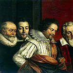 Pourbus, Frans the Younger – Group portrait of four advisers to the magistrate Paris, part 10 Hermitage