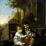 Prudhon, Pierre Paul – Children with rabbit, part 10 Hermitage