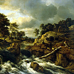 part 10 Hermitage - Ruisdael, Jacob van ai - Waterfall in Norway