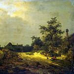 Ruisdael, Jacob van ai – Farmhouse in the dunes, part 10 Hermitage