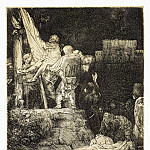 Rembrandt, Harmenszoon van Rijn – Descent from the Cross by torchlight, part 10 Hermitage