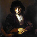 Rembrandt, Harmenszoon van Rijn – Portrait of an old woman, part 10 Hermitage