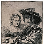 Rembrandt, Harmenszoon van Rijn – Self Portrait with Saskia, part 10 Hermitage