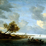 Ruisdael, Salomon van – The crossing on the ferry in the vicinity of Arnhem, part 10 Hermitage