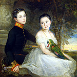 Robertson, Christina – Children with a Parrot, part 10 Hermitage