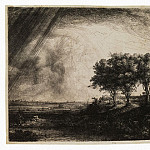 Rembrandt, Harmenszoon van Rijn – Three trees, part 10 Hermitage