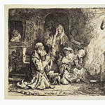 Rembrandt, Harmenszoon van Rijn – Angel leaving the family of Tobias, part 10 Hermitage