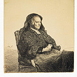 Rembrandt, Harmenszoon van Rijn – Portrait of Rembrandts mother, sitting at the table, part 10 Hermitage