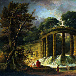 Robert, Hubert – Pavilion with a cascade, part 10 Hermitage
