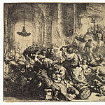 part 10 Hermitage - Rembrandt, Harmenszoon van Rijn - Christ expelling merchants from the temple