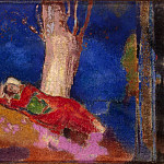 A woman sleeping under a tree, Odilon Redon
