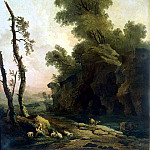 Robert, Hubert – Landscape with rocks, part 10 Hermitage