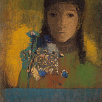 Woman with wildflowers, Odilon Redon