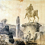 part 10 Hermitage - Robert, Hubert - Landscape with the Colosseum and the monument of Marcus Aurelius