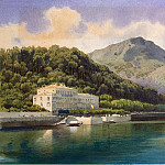 Premazzi, Luigi – View of Lake Geneva, part 10 Hermitage