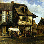 Rousseau, Theodore – The market in Normandy, part 10 Hermitage