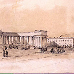 Premazzi, Luigi – Kazan Cathedral on the Nevsky Prospect in St. Petersburg. Sketch, part 10 Hermitage