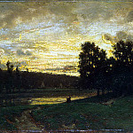 Rousseau, Theodore – Landscape with sunset, part 10 Hermitage
