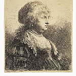 part 10 Hermitage - Rembrandt, Harmenszoon van Rijn - Portrait of Saskia with Pearls in your hair