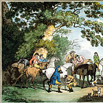 Roulandson, Thomas – Morning departure to the hunt, part 10 Hermitage