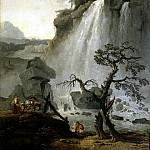 Robert, Hubert – Landscape with waterfall, part 10 Hermitage