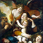 Procaccini, Giulio Cesare – The Holy Family with John the Baptist and an angel, part 10 Hermitage