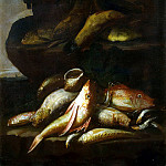 Recco, Helena – Still life with fish and shell, part 10 Hermitage