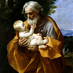 Reni, Guido – Joseph and the Christ child in her arms, part 10 Hermitage