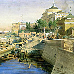 Premazzi, Luigi – Neva Embankment near the Admiralty, St. Petersburg, part 10 Hermitage
