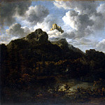 Ruisdael, Jacob van ai – Mountain landscape, part 10 Hermitage