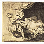 Rembrandt, Harmenszoon van Rijn – Joseph and Potiphars wife, part 10 Hermitage