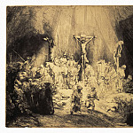 Rembrandt, Harmenszoon van Rijn – Christ, crucified between two thieves, part 10 Hermitage