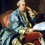 Portrait of Ivan Ivanovich Betsky in his dressing gown, Alexander Roslin