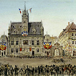 Piasecki, Pavel Ya – Emperors motorcade at the Town Hall Square at Compiegne, part 10 Hermitage