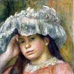 The girl in the hat, Pierre-Auguste Renoir