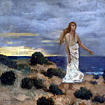 part 10 Hermitage - Puvis de Chavannes, Pierre - Woman on the beach