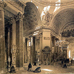 part 10 Hermitage - Premazzi, Luigi - Interior of the Kazan Cathedral in St. Petersburg