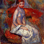 Nude Seated in a Landscape, Pierre-Auguste Renoir