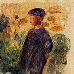 Portrait of a Kid in a Beret - 1892, Pierre-Auguste Renoir