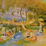Laundresses at Cagnes - ок 1912, Pierre-Auguste Renoir