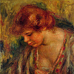 Profile of Andre Leaning Over - 1917, Pierre-Auguste Renoir