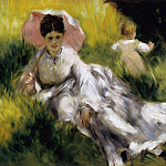 Woman with Parasol - 1873, Pierre-Auguste Renoir